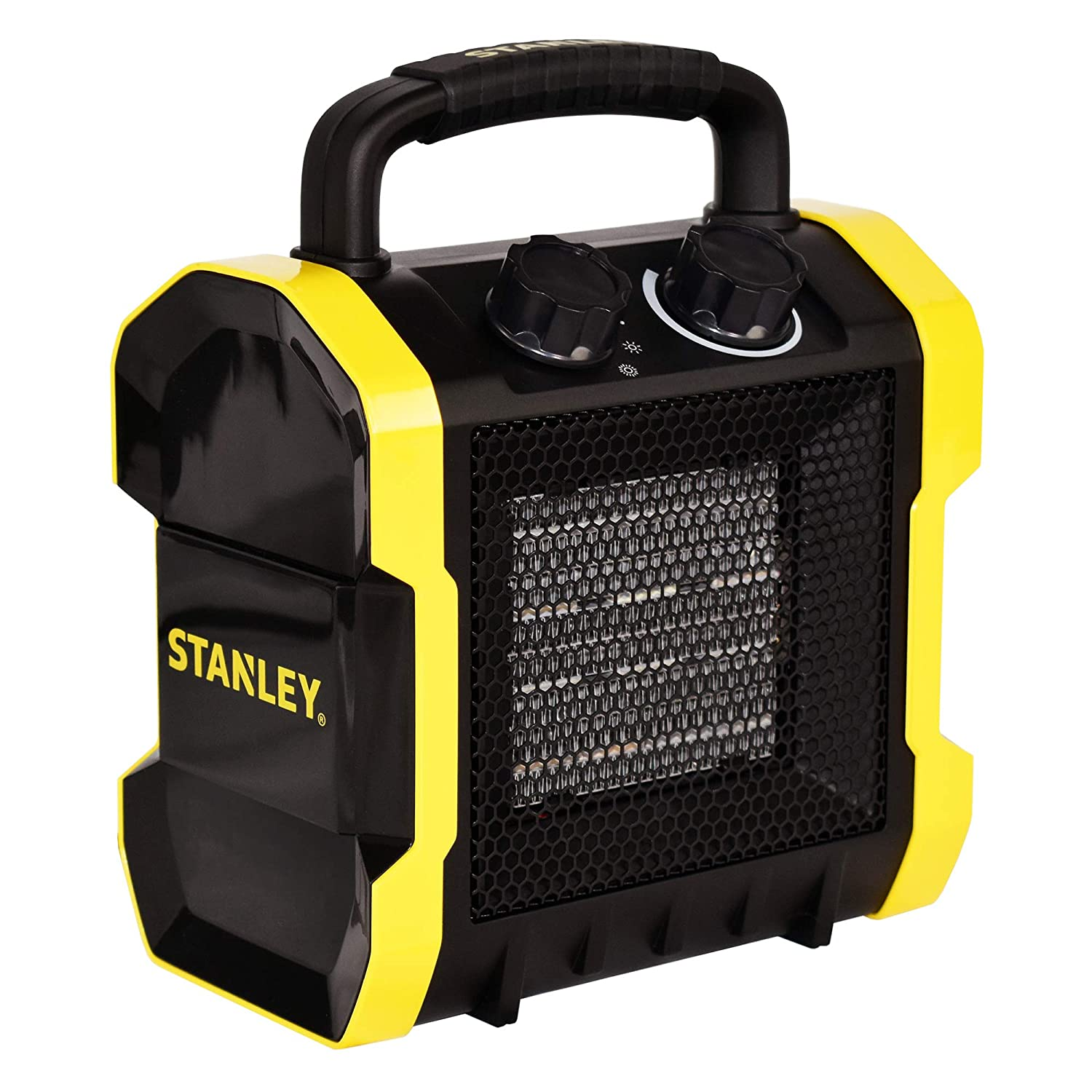STANLEY ST-222A-120 Heavy-Duty Electric Heater, Black, Yellow