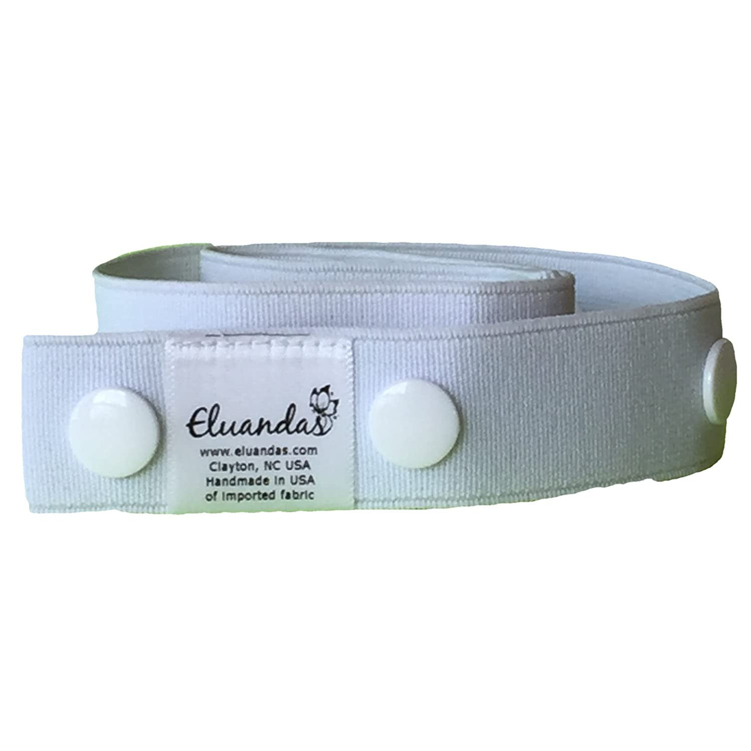 Elu Clips Solid Colors Elastic Snap Belt for Kids and Adults no front closure