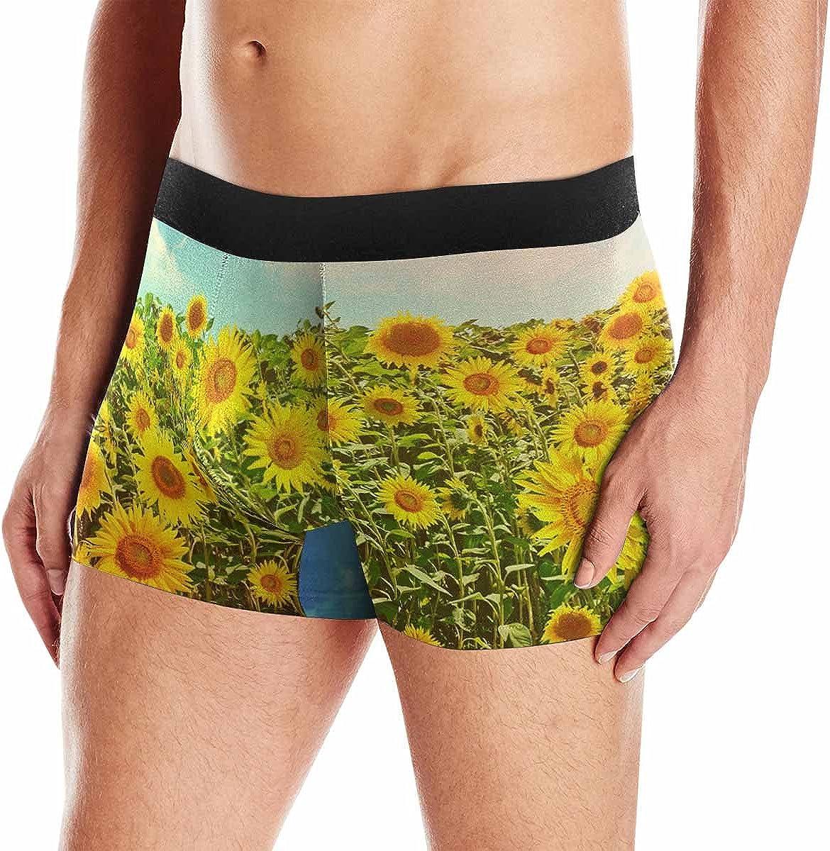 INTERESTPRINT Mens Beautiful Sunflower in Field Sweatshirts Hoodie