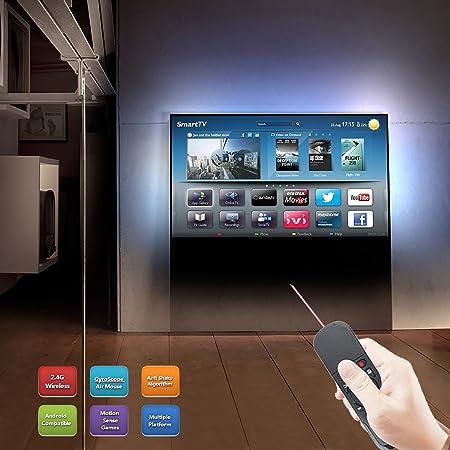 avatto i7 2,4 G inalámbrico aire ratón mando a distancia con puntero láser y 6 Axis Senser para Smart TV, Android TV Box, ordenador portátil, PC de sobremesa: Amazon.es: Electrónica
