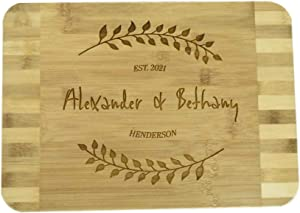 Brew City Engraving - Custom Personalized Engraved Bamboo Cutting Board - Wedding, Anniversary, Graduation, Housewarming, Closing, Realtor Mother's Day, Fathers Day Gift / Present for Cooks & Chefs 66