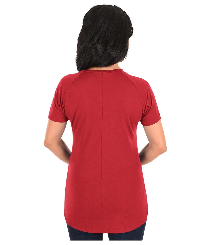 VF LSG NBA Fanatic Force - Camiseta de manga corta de cuello redondo para mujer - MPKF-871, XL, Rojo (rojo atlético): Amazon.es: Deportes y aire libre