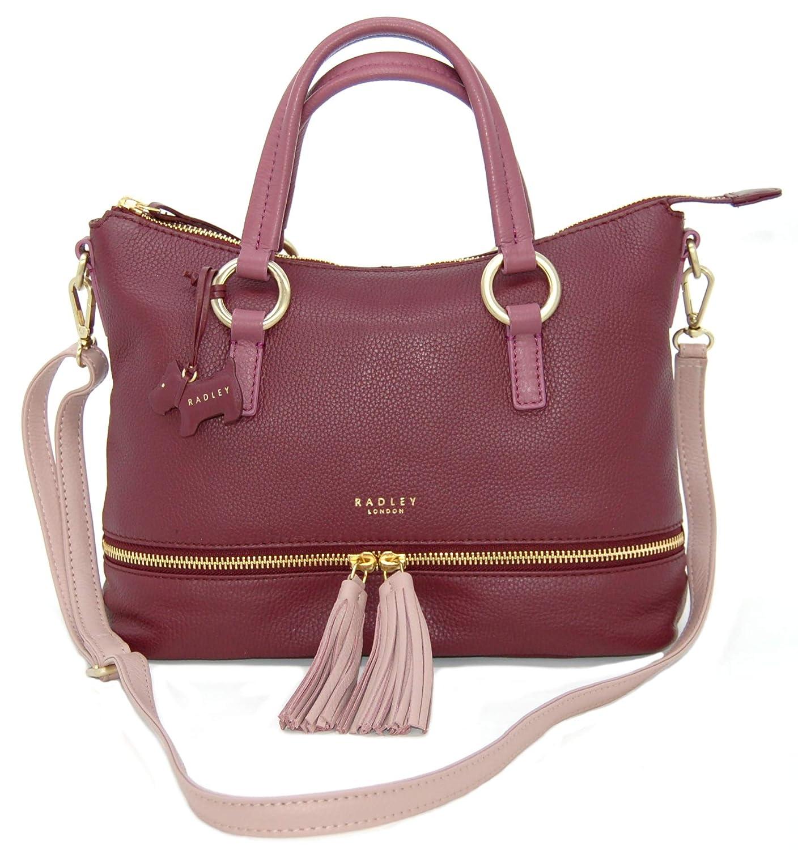 31dfe48779d RADLEY  Pickering  Medium Burgundy Wine Leather Multiway Bag - RRP £209   Amazon.co.uk  Luggage