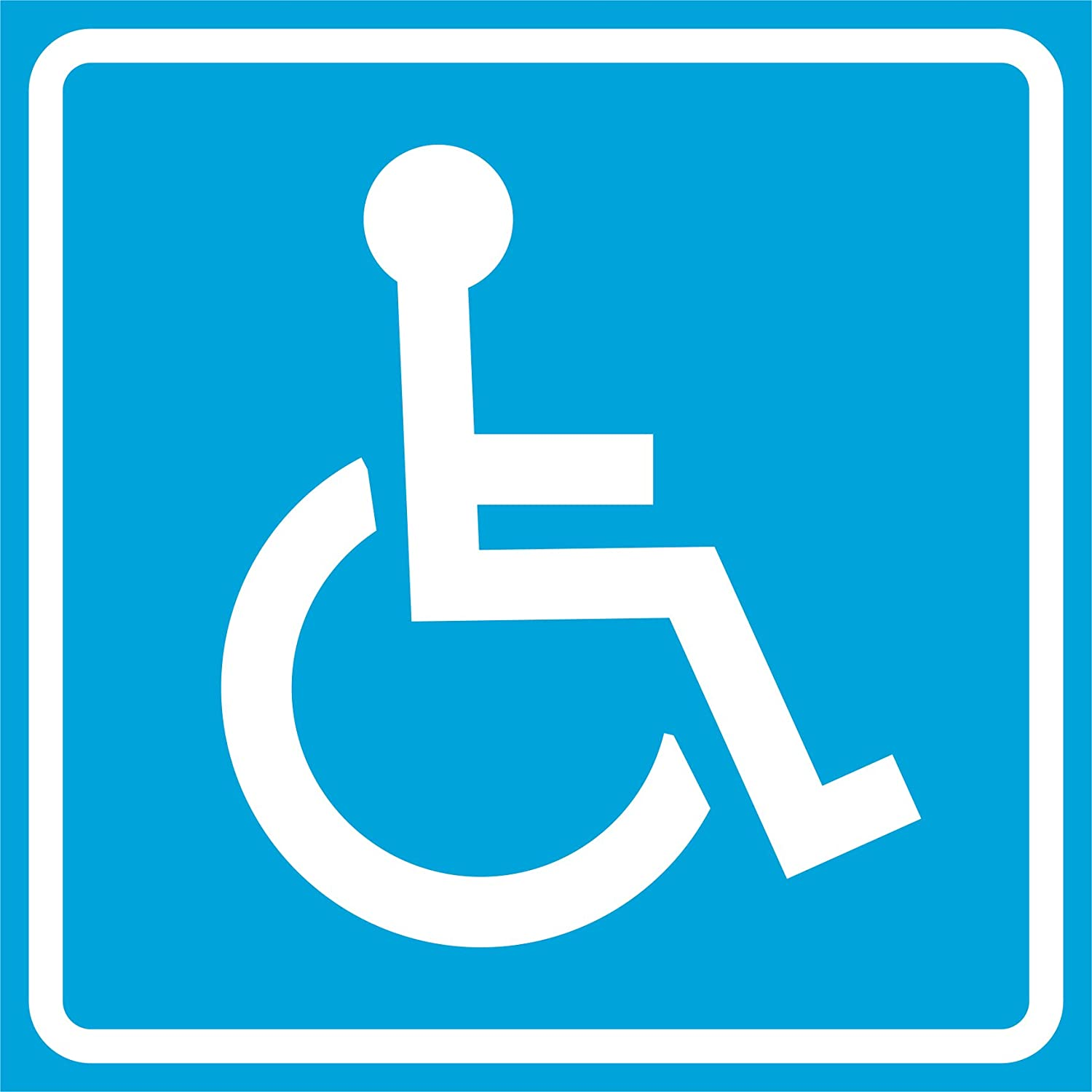 Handicap無効ブルーNotice Road Street駐車場標識Commercialプラスチック12 x 12 Square Sign 4 Pack  B01DLH4Z22