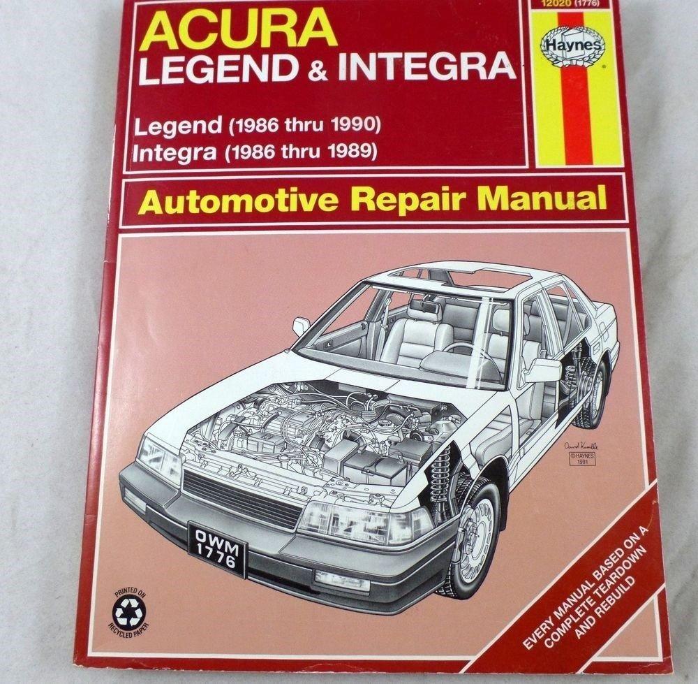 Acura Integra (1986 thru 1989) & Legend Integra (1986 thru 1990) Automotive  Repair Manual: Larry Warren, Alan Ahlstrand, John Harold Haynes:  Amazon.com: ...