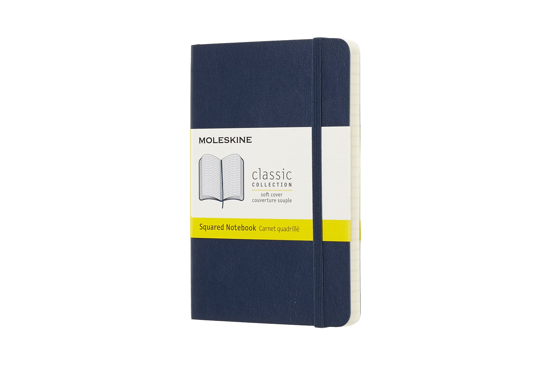 Moleskine Classic Soft Cover Notebook, Squared, Pocket Size.