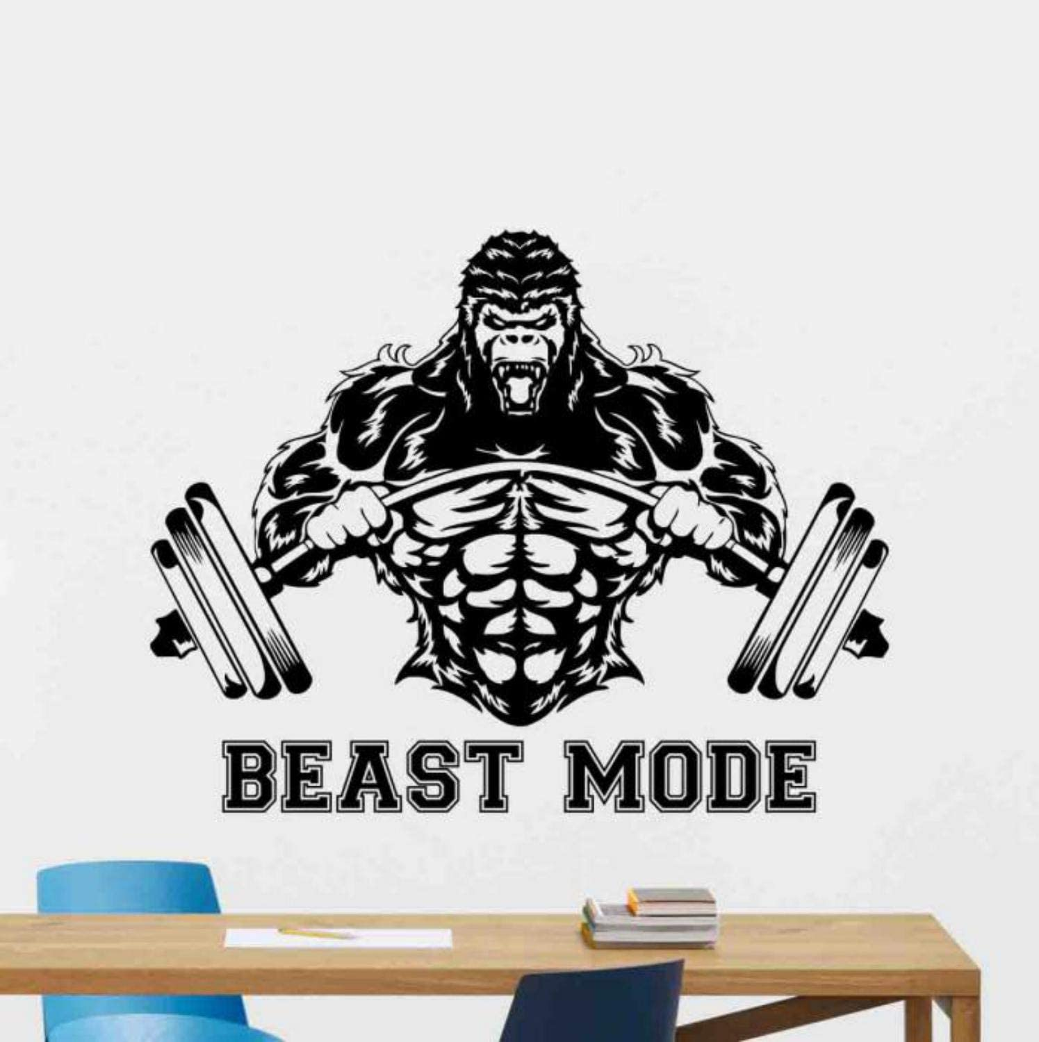 Amazon Com Kellysdesigns Beast Mode Wall Decal Sign Gorilla Barbell Vinyl Sticker Gym Quote Fitness Poster Motivational Decor Gifts Workout Wall Decor Crossfit Wall Art Fan Sport Bodybuilding Gym Mural 1084 Home