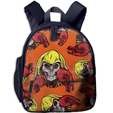 cfe67924c93e Skull Boxing Kids Fashion Shoulder Bags Children Handbag School Backpacks