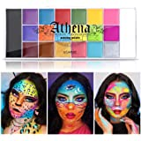 UCANBE Athena Face Body Paint Oil Palette, Professional Flash Non Toxic Safe Tattoo Halloween FX Party Artist Fancy Makeup Pa