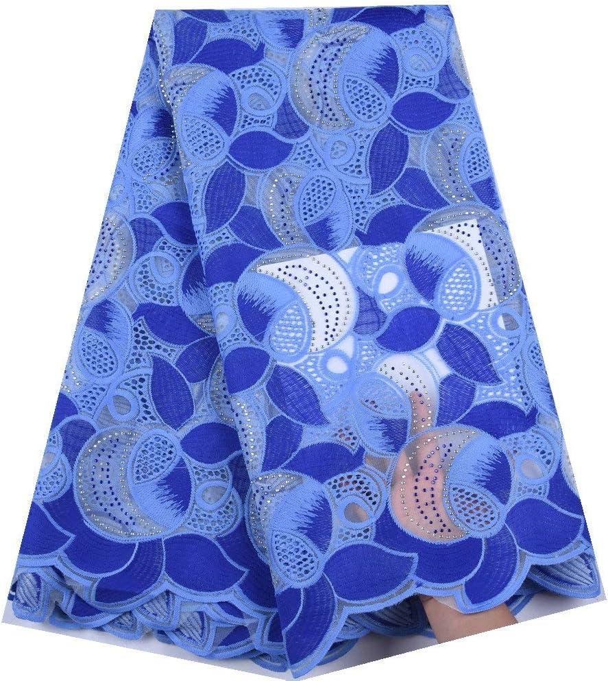 NO BRAND Tela de la Leche Tela del cordón de la Tela de Seda del cordón francés Africano Leche con Dos Colores Piedras de F1639 del Partido del Vestido de Nigeria (Color :