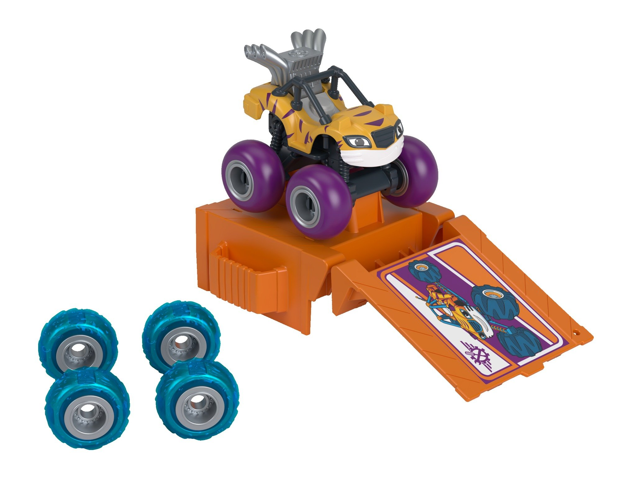Fisher-Price Nickelodeon Blaze & the Monster Machines Tune-Up Tires, Stripes