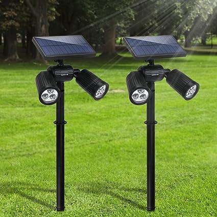 Luz de Pared Solar, Sensor de Movimiento Solar 21 LED Luces Impermeables de Energía Solar