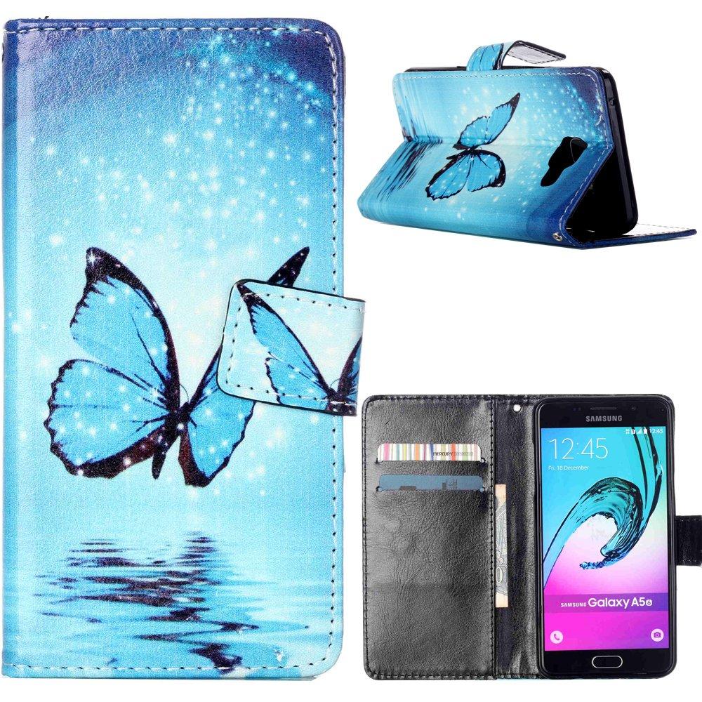 Dooki, Galaxy A5 2016 Coque, Portemonnaie Flip PU Cuir Housse Coque É tui Etui pour Samsung Galaxy A5 2016 Avec Carte Tenant Fente Supporter (A-1) DKA52016PUJ