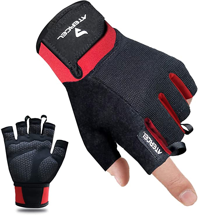 Best Cycling Gloves: Atercel Gloves Workout, Best Exercise Gloves for Weight Lifting, Cycling, Gym, Training, Breathable & Snug fit for Men & Women