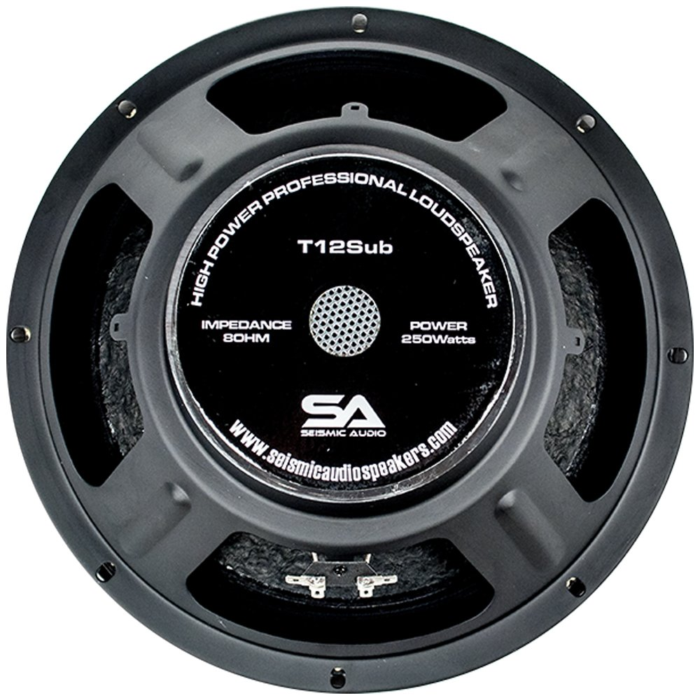 Seismic Audio - T12Sub - 12 Inch Steel Frame Subwoofer Driver - 300 Watts RMS Replacement Sub Woofer for PA, DJ, Band, Live Sound by Seismic Audio (Image #2)