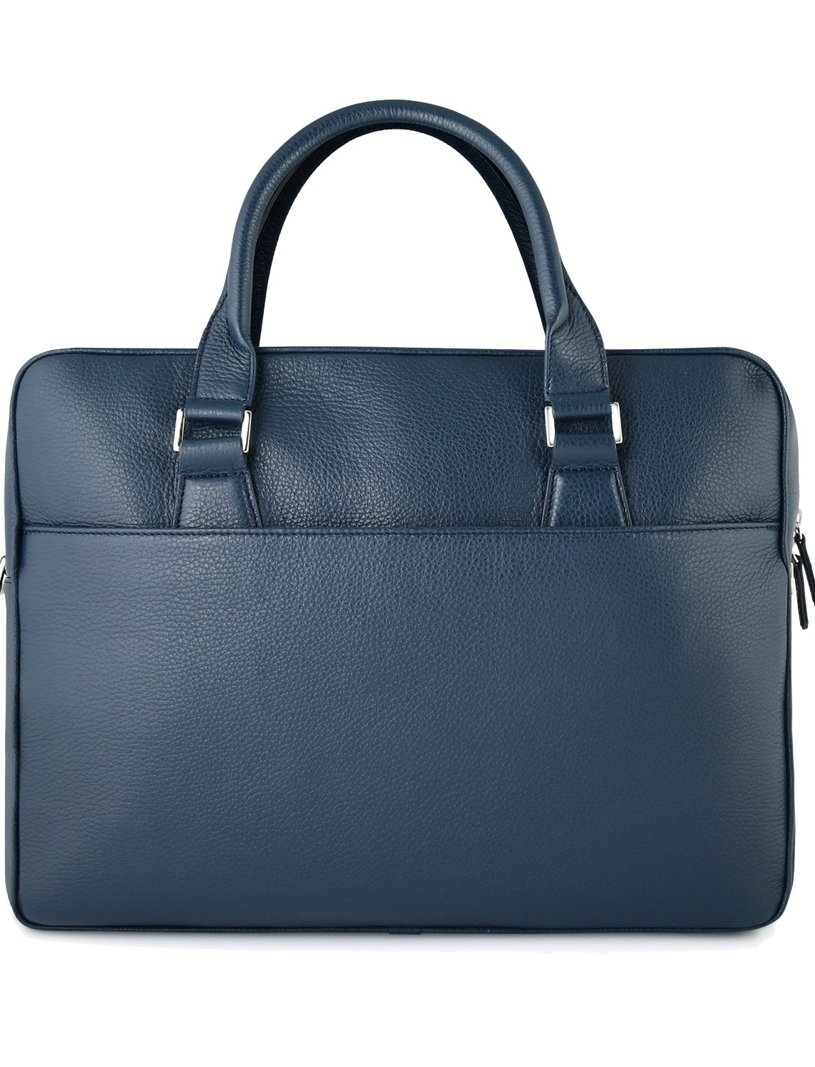 Grained Calfskin Leather Briefcase