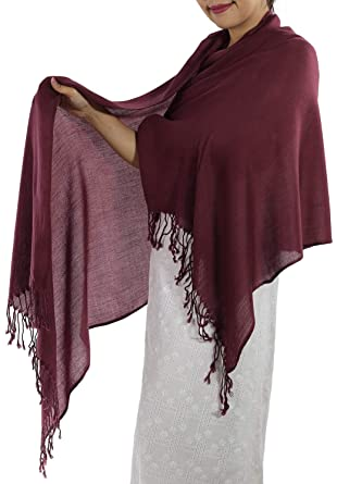 cdc0b24356b Burgundy Pashmina Shawl & Wrap - Women's Burgundy Scarf Large & Long ...