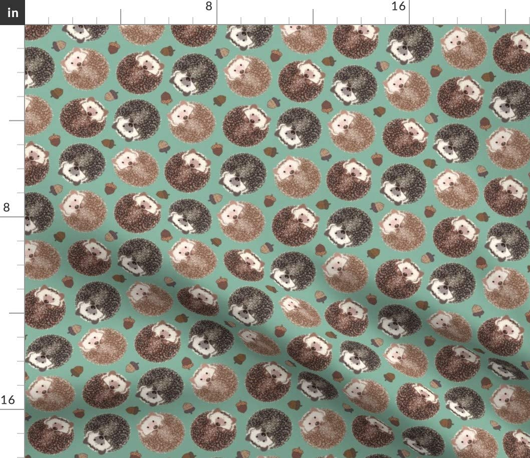 Amazon Com Spoonflower Fabric Hedgehog Scatter Forest Woodland Acorn Hedgehogs Printed On Fleece Fabric By The Yard Sewing Blankets Loungewear And No Sew Projects