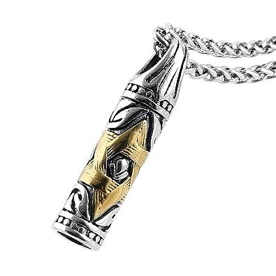 Amazon.com: hzman joyas Magen Estrella de David judía Bullet ...