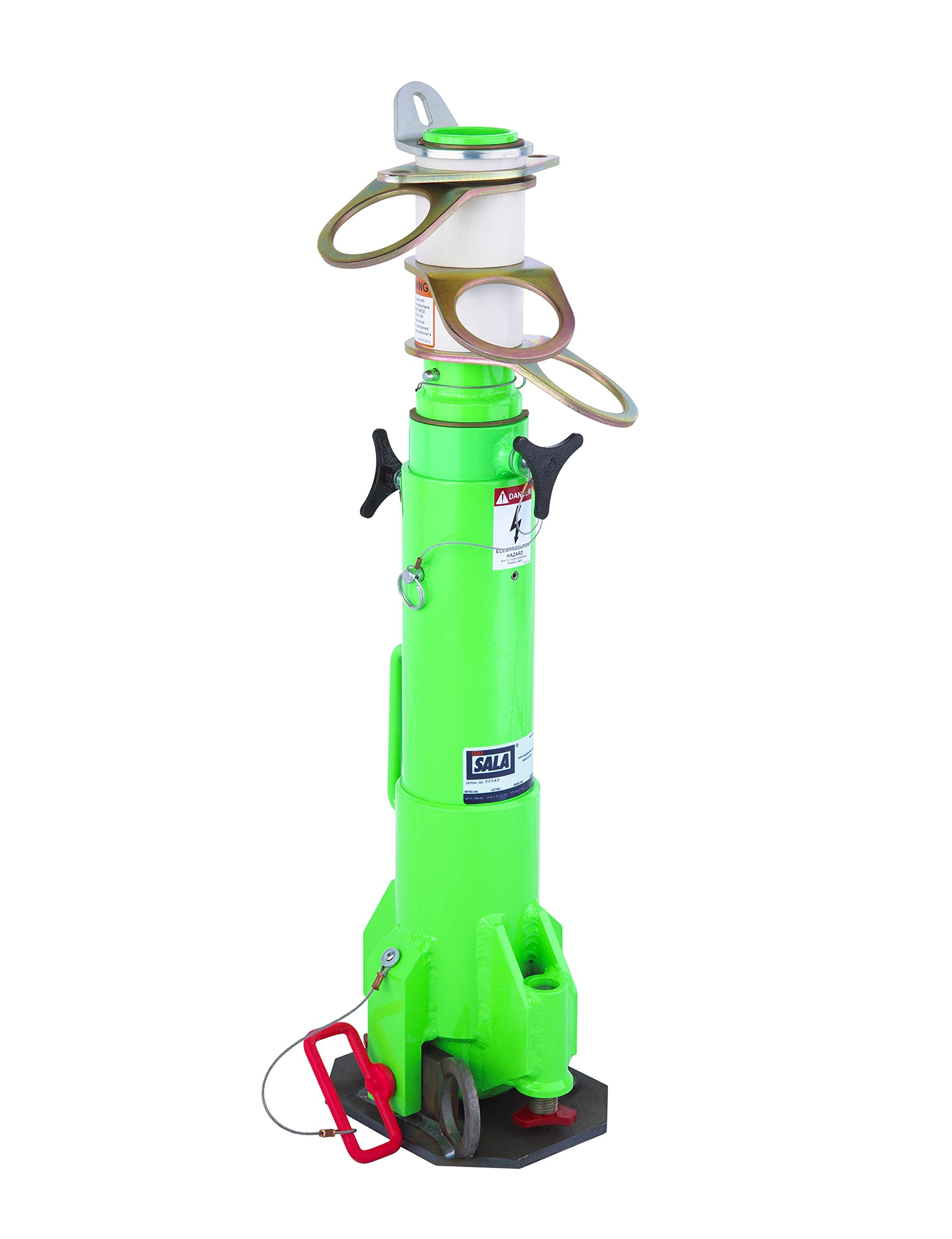 3M DBI-SALA Advanced 8516691 Confined Space System, Portable, Telescoping Fall Arrest Post with 3 Independent 360 Degree Swiveling Anchor Points, Green