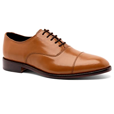 Amazon.com | Anthony Veer Men's Dress Shoe Clinton Cap-Toe Oxford Full Grain Leather Goodyear Welted | Oxfords