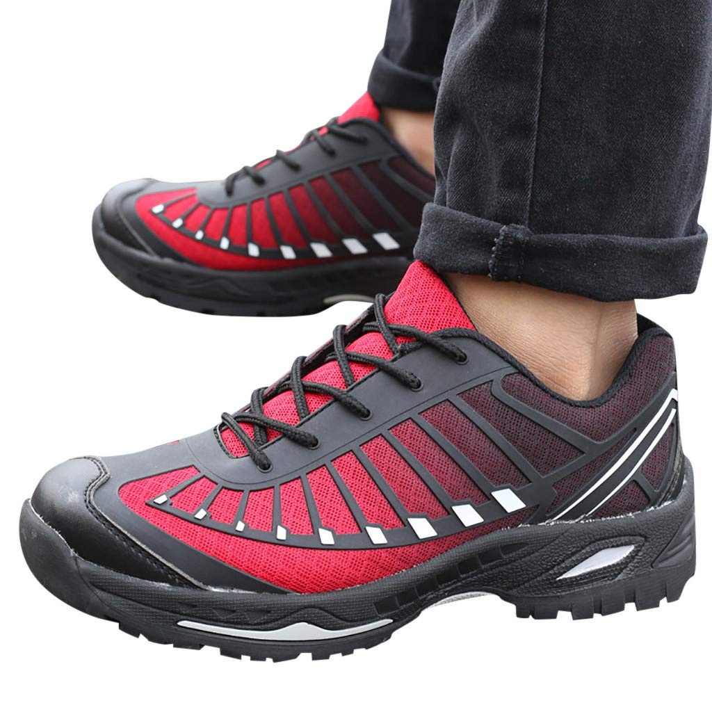 Protective Shoes Anti-Piercing Work Shoes Thick Bottom Safety Shoes Large Mens Summer Sneaker Non Slip Walking Shoe Joykith