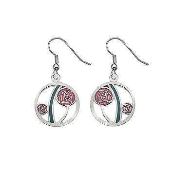 Mackintosh Rose & Tulip Earrings by Sea Gems - Purple JMX6EE0