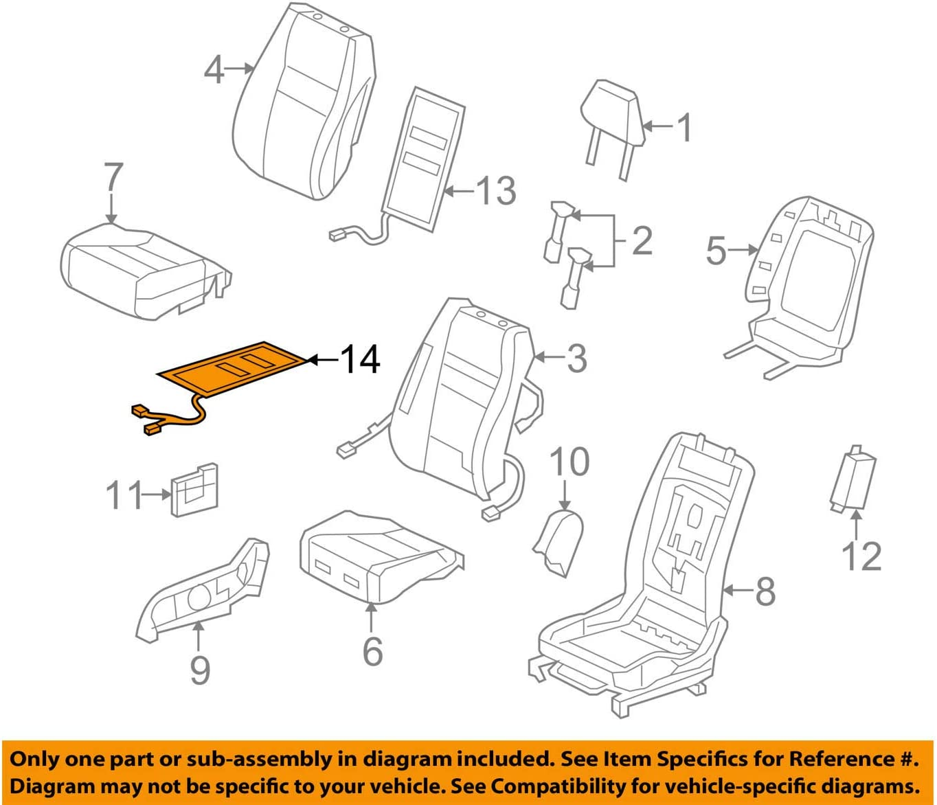 Genuine GM 88940288 Seat Cushion Heater