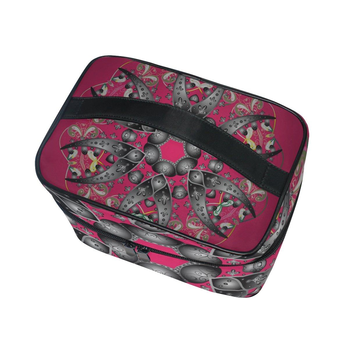 b2f92a2a2 ISAOA - Neceser multifuncional para maquillaje, diseño de mandala, copo de  nieve, bolsa de aseo, bolsa de viaje para cosméticos, bolsa de  almacenamiento, ...