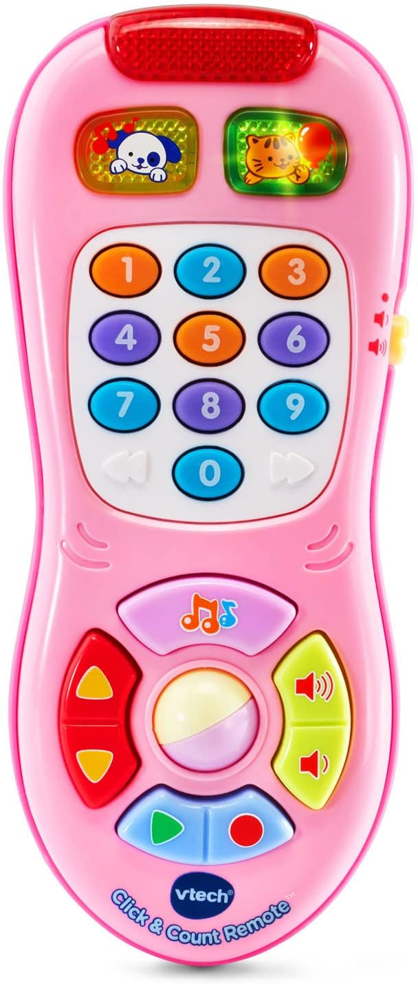 VTech Click and Count Remote, Pink, Great Gift for Kids, Toddlers, Toy for Boys and Girls, Ages Infant, 1, 2, 3