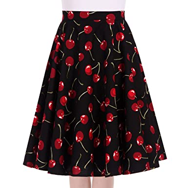 35b66b7ec81 Women s 50s 60s Retro Style Full Circle Skirt Vintage Rockabilly Swing Skirt  (Small
