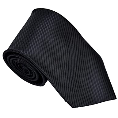 Classic Jacquard Color puro para hombre corbatas corbata negro ...