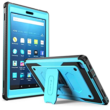 Fire HD 8 Case, [Heavy Duty] i-Blason Fire HD 8 2016 6th Generation  Armorbox [Dual Layer] Hybrid Full-Body Protective Kickstand Compatible Case  with