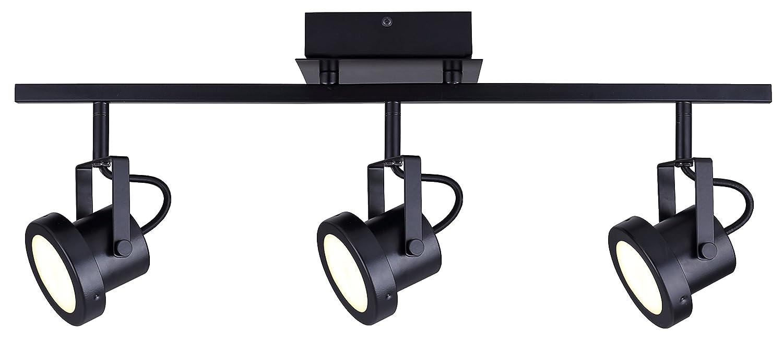 CANARM LTD. IT356A02BPT10 James 電球2個用 トラック照明 3 Light - LED B01MUGJF8U 3 Light - LED|ブラック ブラック 3 Light - LED