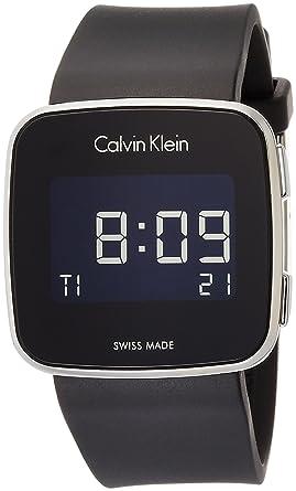 Calvin Klein Homme Digital Montre avec Bracelet en Silicone K5C21TD1 ... 0a52de689f4
