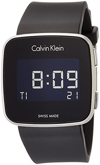 Calvin Klein Reloj Hombre de Digital con Correa en Silicona K5C21TD1: Amazon.es: Relojes
