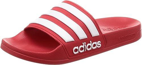 adidas Adilette Shower Herren Sandalen Rot Schuhe, Größe:40.5