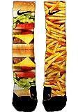 Custom Nike Elite Burger and Fries Socks