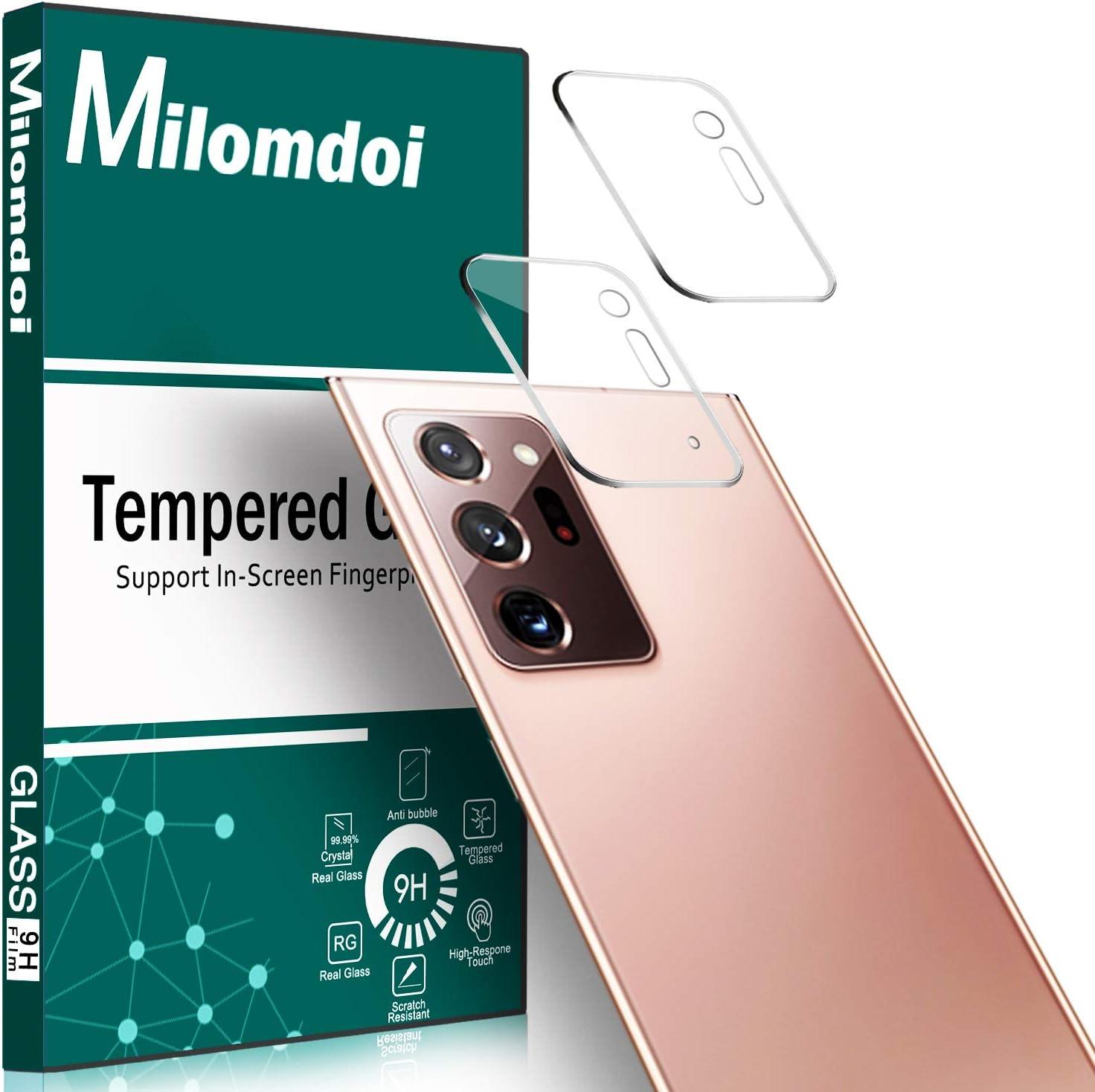 Milomdoi [2 Unidades] Protector Cámara para Samsung Galaxy Note 20 Ultra Protector de Lente de cámara, Cristal Templado [Resistente Arañazos] [Ultrafino] Protector para cámara