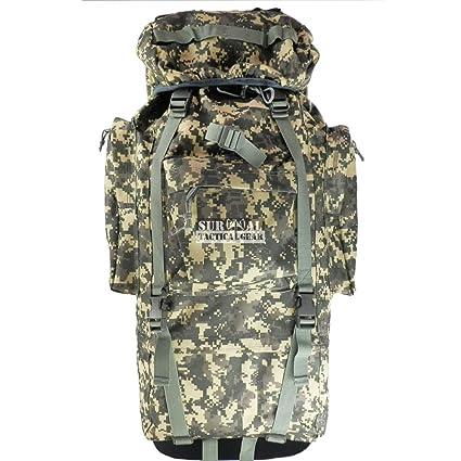 27ffa3cad50f ZAPT 65L Tactical Backpack Military Army Waterproof Giant Hiking Camping  Trekking Rucksack Bag Internal Frame Camo