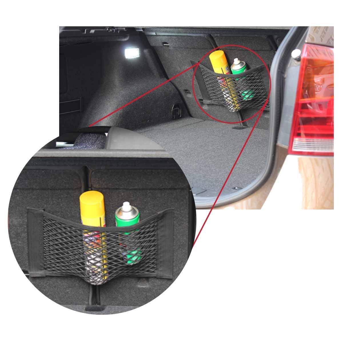 paquet de 2 TOMALL Coffre de voiture Filet de rangement en filet Autocollant mural Organisateur Pouch Bag pour loutil de r/éparation dextincteur dincendie