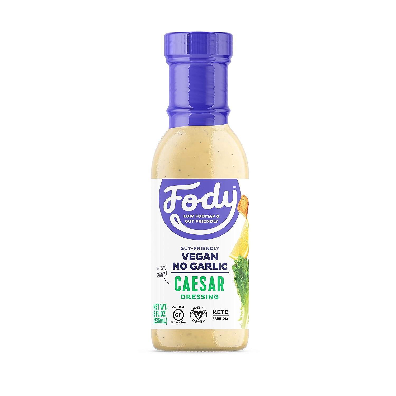 Fody Foods Vegan Caesar Salad Dressing   Low FODMAP Certified   Gut Friendly No Onion No Garlic   IBS Friendly Kitchen Staple   Gluten Free Lactose Free Non GMO