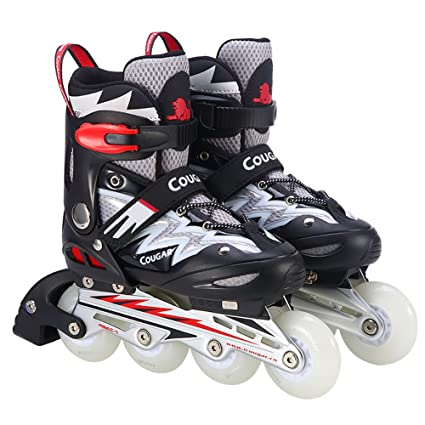 kele Quad roller skates,Led light up single wheel,4 wheel inline rollerblades adjustable