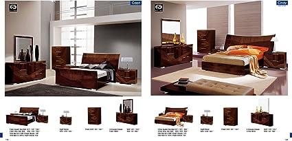Amazon.com: ESF Capri & Cindy Beds Modern King Size Italian ...