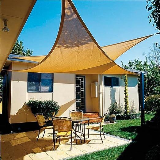 PAPILLON 8091181 Toldo Vela Sombra Jardin Triangular 5x5x5 Metros Beige: Amazon.es: Jardín