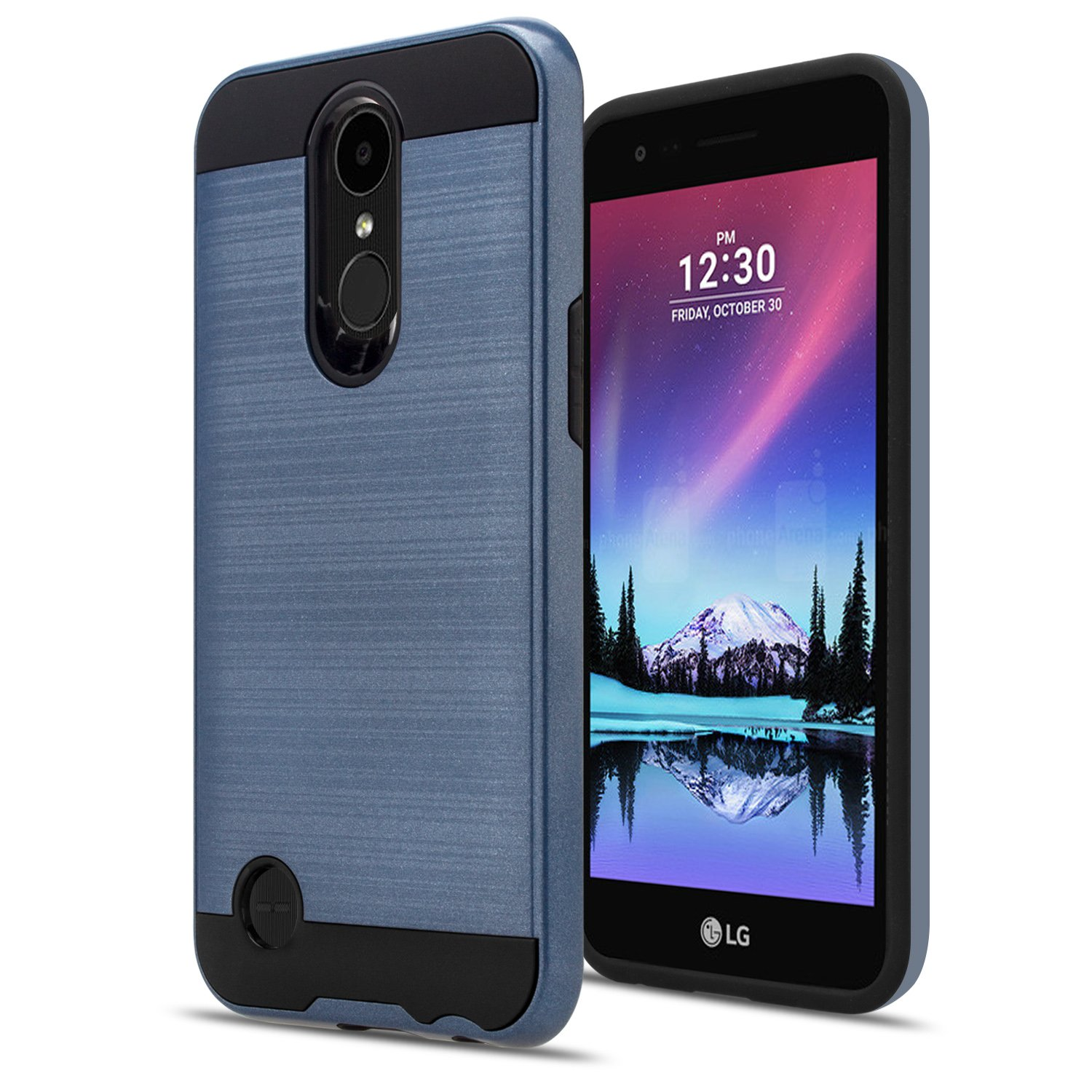 LG K20 V Case,LG K20 Plus / LG K10 2017 / LG VS501 / LG Grace / LG Harmony Case With HD Screen Protector,Aomax Dual Layer Shockproof Non-slip Hybrid Silicone Rubber For LG K10 2017 VLS Black