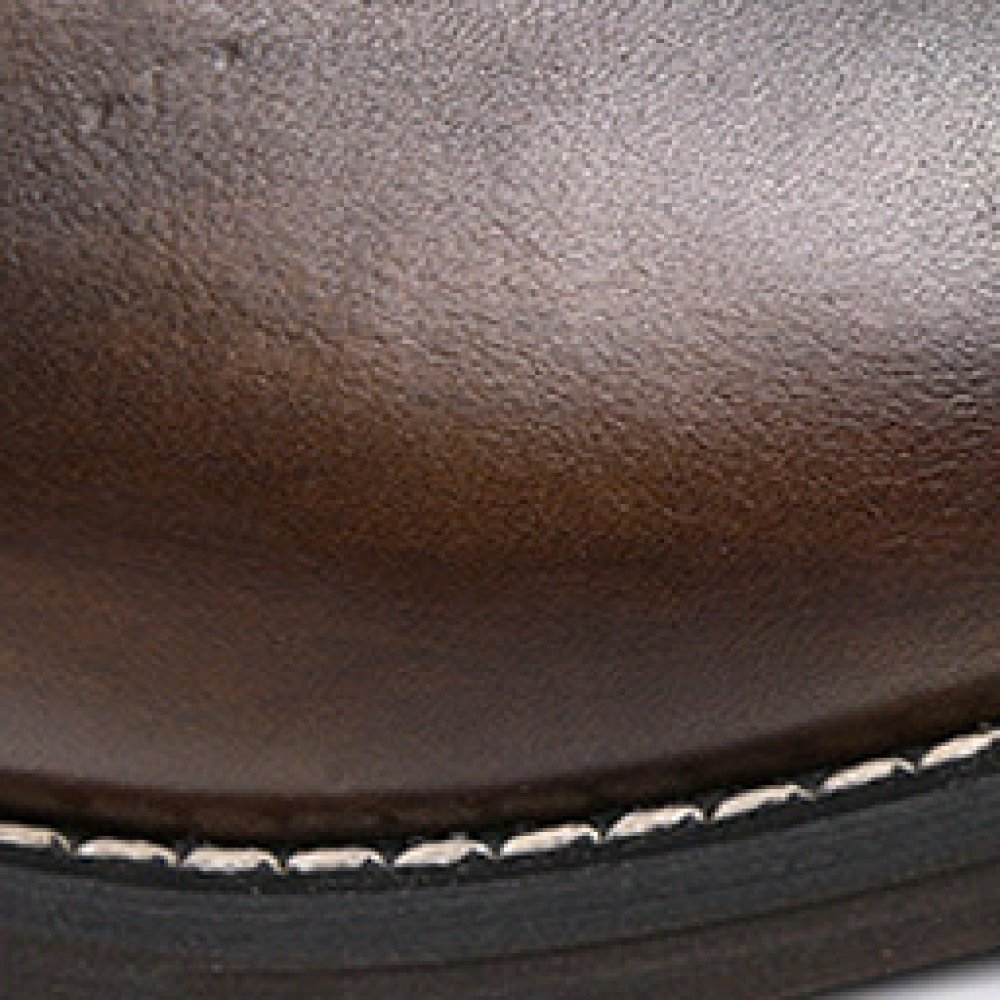 ZPEDY Frühling Lässig Herrenschuhe Geschäft Männer Formelle Kleidung Einzelschuhe Für Männer Geschäft Britischer Brock Leder Atmungsaktiv Lederschuhe Braun 23004c