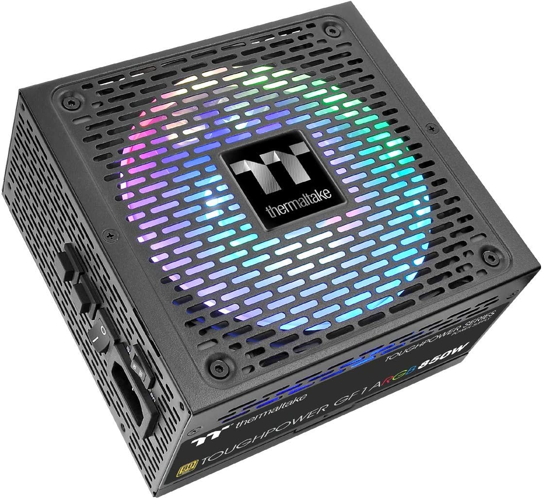 Gold 16.8 Million Colors 18 Addressable LEDs 5V Motherboard Sync//Analog Controlled SLI Full Modular Power Supply PS-TPD-0750F3FAGU-1 Thermaltake Toughpower GF1 ARGB 750W 80
