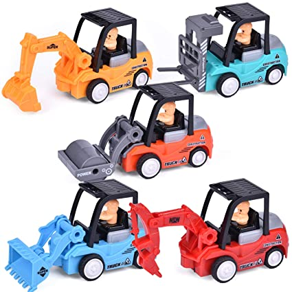 FUN LITTLE TOYS Construction Toy Cars, Push and Go Toy Trucks for Boys & Girls, Xmas Gifts, Stocking Stuffers for Kids, 5 Pieces best stocking stuffers for toddlers