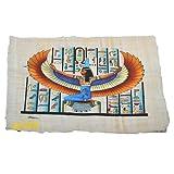 Originale egiziano Papiro di Iside, dea dell'amore, realizzato e dipinto a mano in Egitto, misura circa 33 x 43 cm. ... B07B11CGPB